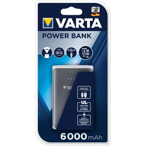 VARTA 57960 101 401 Powerpack 6000mAh grau