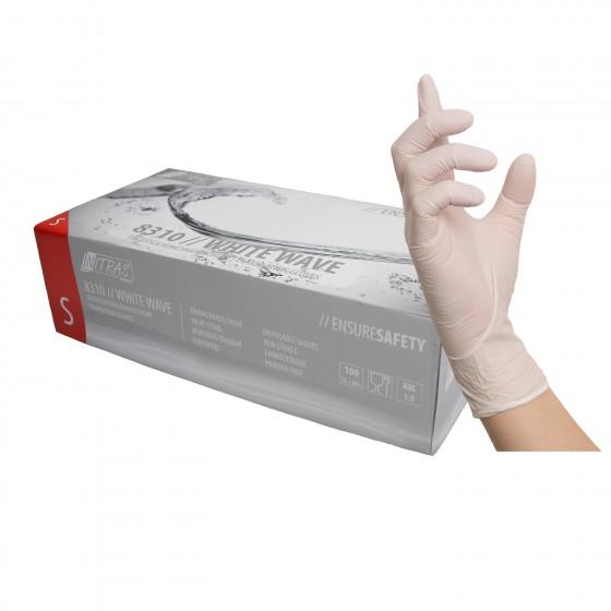 NITRAS BIG WHITE WAVE, Nitril-Einmalhandschuh weiß, unsteril (200er Box) Gr. M