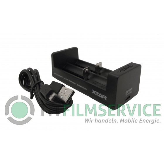 XTAR Ladegerät MC2, Li-Ion Micro Charger, Reiseladegerät + 2 xSony  VTC6
