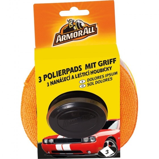 ARMOR ALL 3 Polierpads mit Griff GAA40067GC