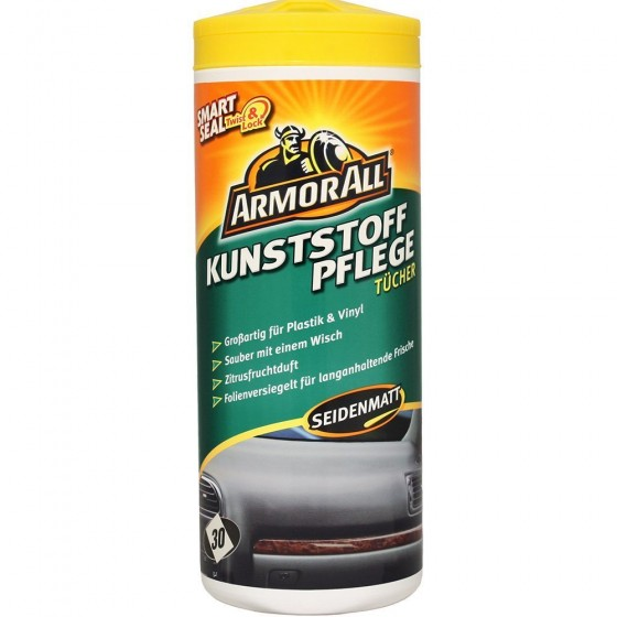 ARMOR ALL Kunststoffpflegetücher 30 Stk. Glänzend + 20%