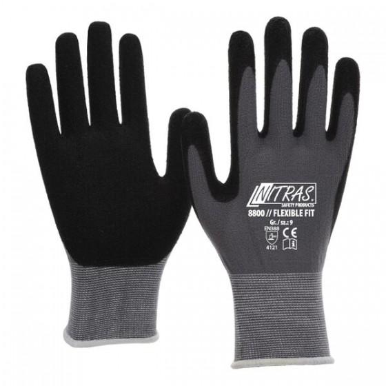 NITRAS 8800 Flexible Fit 1 Paar Gr. 6 grau/schwarz - Umrandung blau