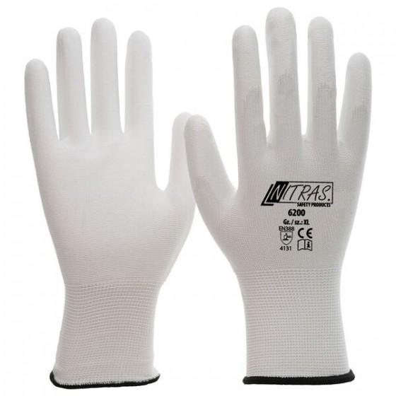 NITRAS 6200 Nylonhandschuhe 1 Paar Gr. M weiß