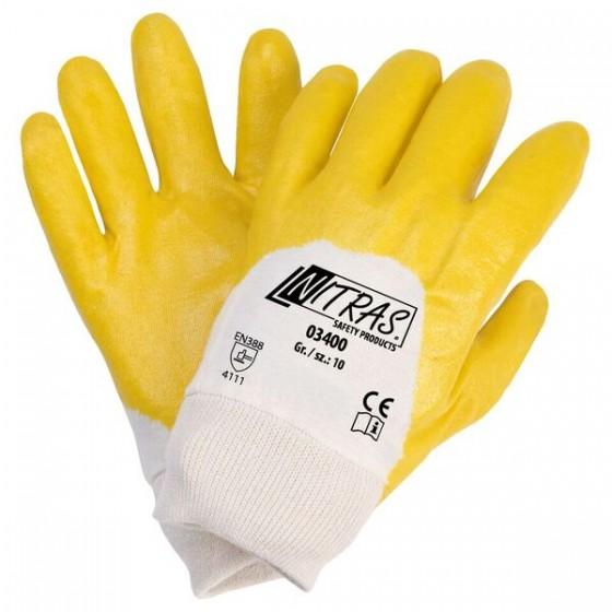 NITRAS 03400 Nitrilhandschuhe 1 Paar Gr. 7 gelb