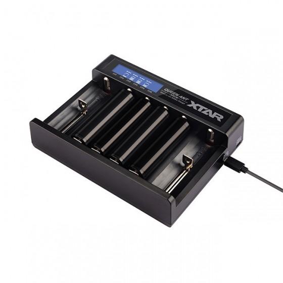 XTAR Ladegerät MC6 QUEEN ANT 6-Schacht USB