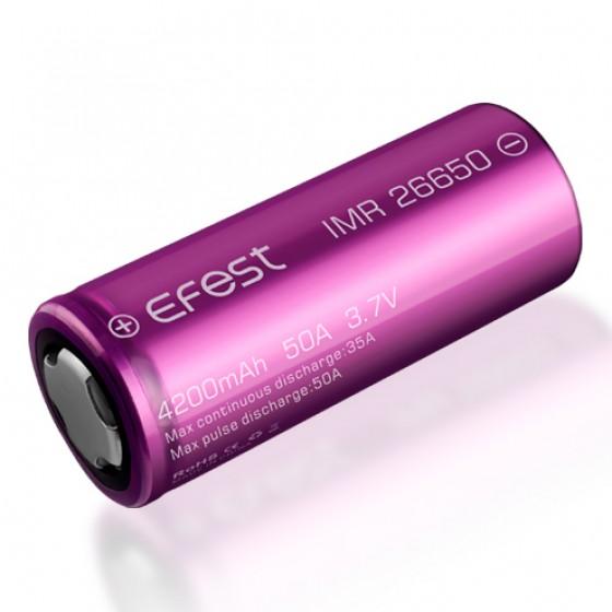 EFEST Purple IMR 26650 3,7V, flat 4200mAh 50A Hochleistungsakku