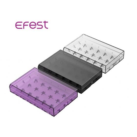Efest Batteriebox H6 für 6x 18650 Li-Ionen Akkus farblich sortiert (weiß)
