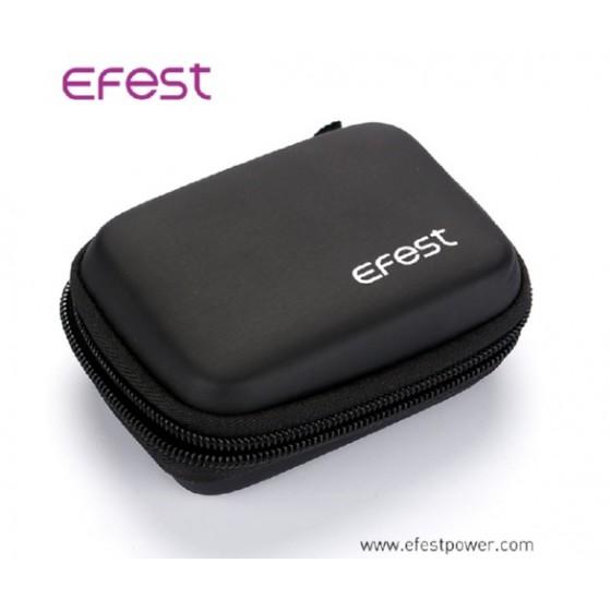 Efest Akku-Aufbwarungstasche 18650 Zipper Case mit Karabinerhaken schwarz