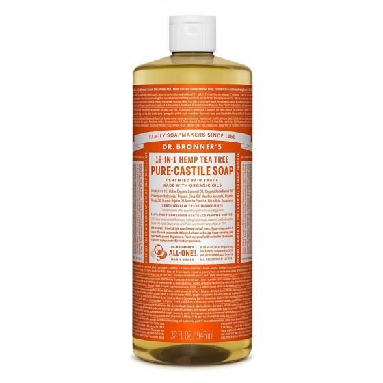 Dr. Bronner's Naturseife Flüssigseife Teebaum 945 ml