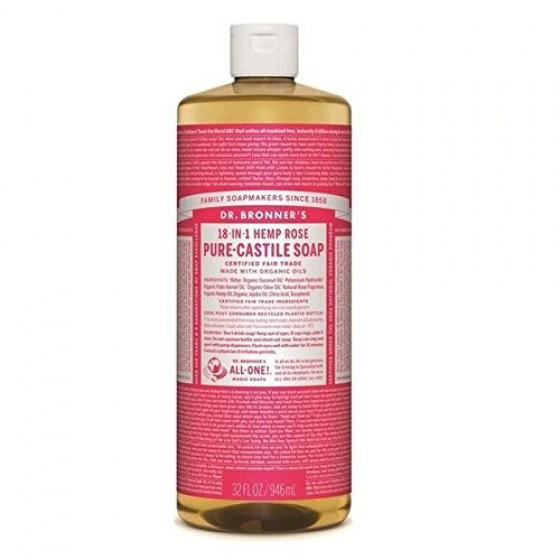 Dr. Bronner's Naturseife Flüssigseife Rose 945 ml
