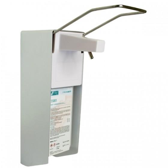 Nitras Armhebelspender Aluminium inkl. Wandbefestigung und Leerflasche, Fassungsvermögen 500ml Nr. 56500