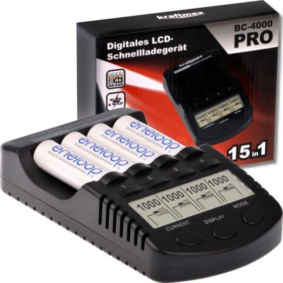 Kraftmax BC-4000 Pro Akku Ladegerät mit LCD-Display und Mikroprozessor