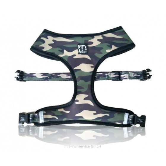 Hundegeschirr The Skull Camo Harness Gr. M/L