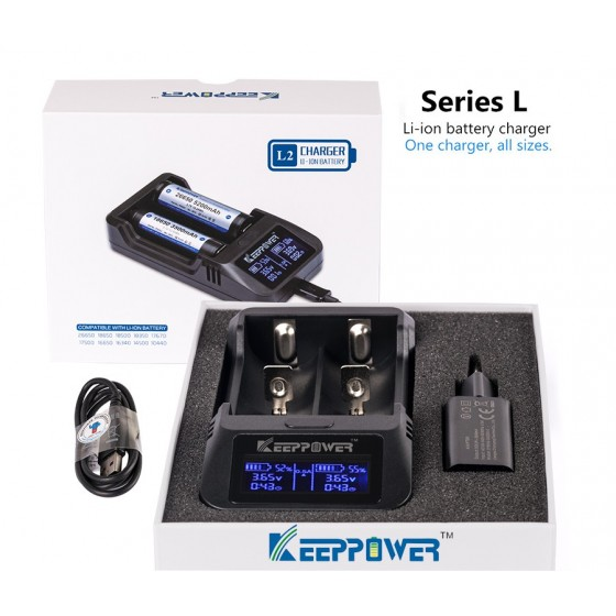 KeepPower L2 LCD-Ladegerät für Lithium-Ionen-Akkus