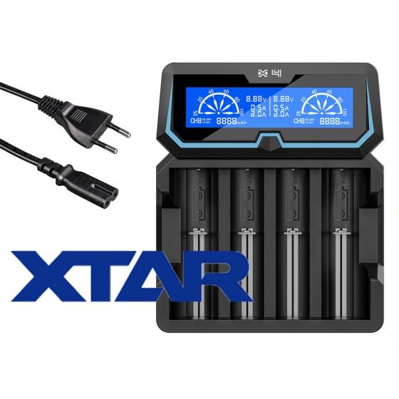 XTAR Ladegerät X4  Li-Ion Ni/MH Akkus 4-Schacht