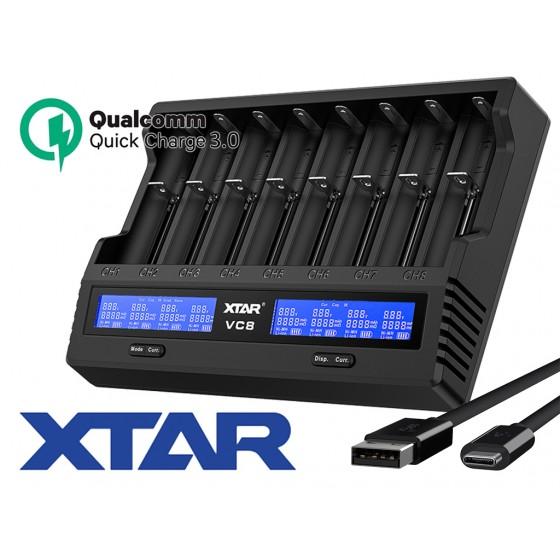 Xtar VC8 - Ladegerät für Li-Ion 3,6V - 3,7V und NIMH 1,2V Akkus