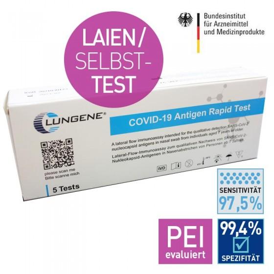 Clungene Schnelltest für Laien (VPE 5 Stück) Covid-19 Antigen Test