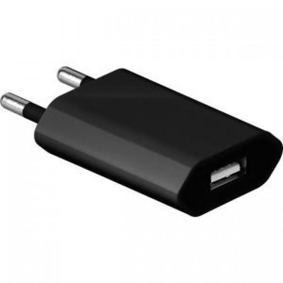 USB-Ladegerät Goobay 1,0A mit Eurostecker und USB 2,0-Buchse, schwarz