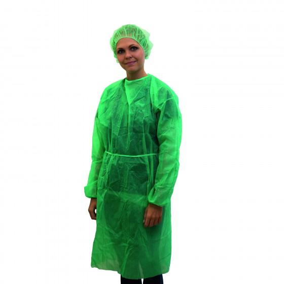 NITRAS PP-Besuchermantel zum Binden, grün