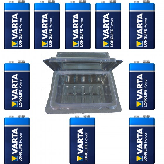 20 x Varta 9V-Block 4922 + Box