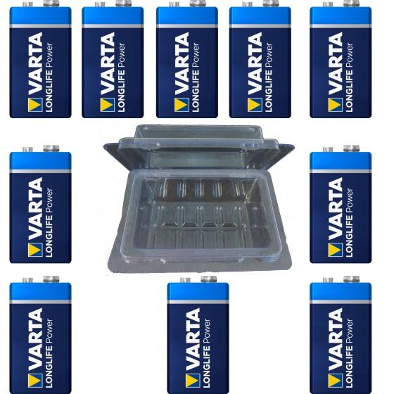 50 x Varta 9V-Block 4922 + Box