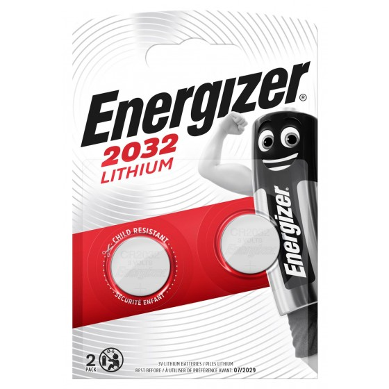 Energizer CR2032 3V Lithium im 2er Blister