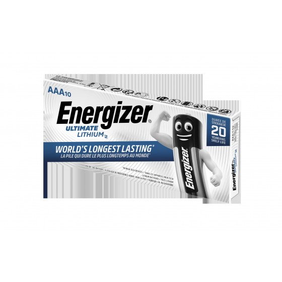 Energizer Micro Ultimate Lithium L92 1,5V in 10er-Schachtel