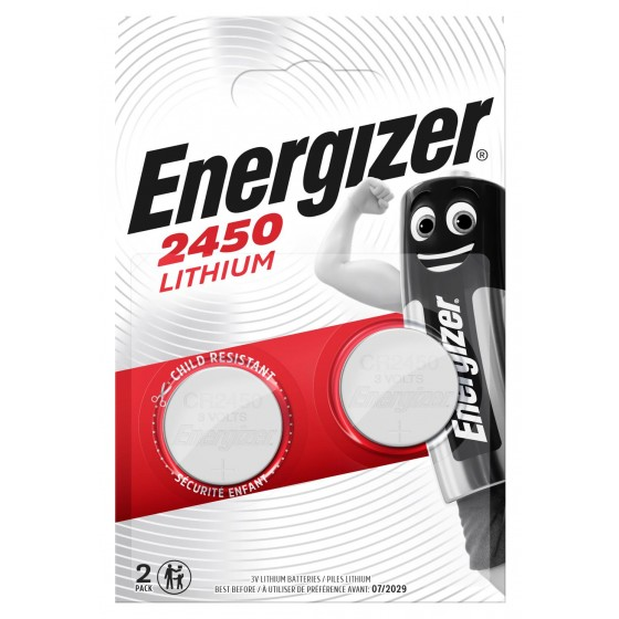 Energizer CR2450 3V Lithium in 2er-Blister