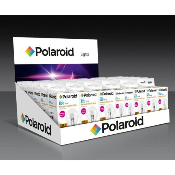 Polaroid Thekendisplay bestückt mit 56 Halogen-Glühlampen