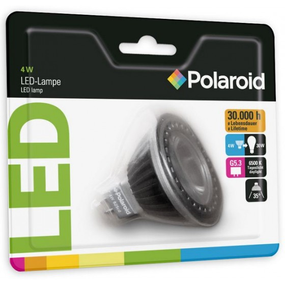 Polaroid LED Spot flach 4W, 300 cd, 6500k, G5.3