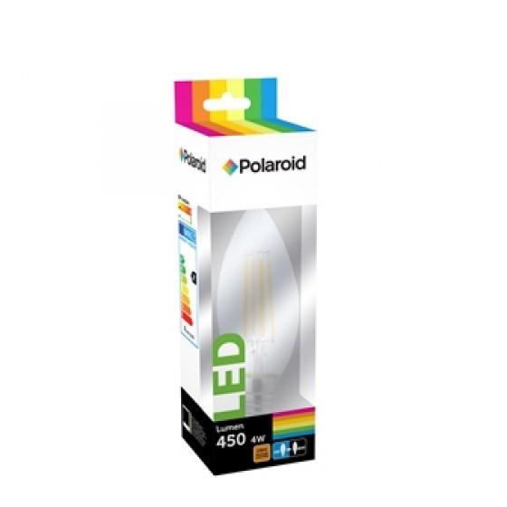 Polaroid LED Filament C35 Candle 4W, 450 Lumen, 2700 K, E14