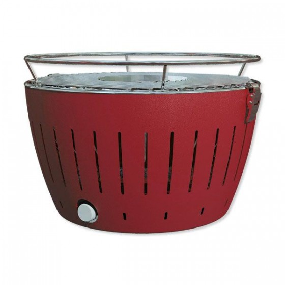LotusGrill G340 Holzkohle Tischgrill feuerrot G-RO-34P