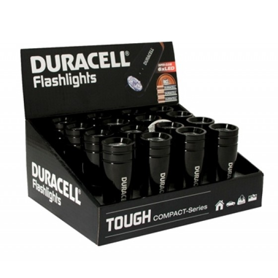 Duracell Flashlights Tough CMP-1 Compact-Serie mit 6 LEDs 16er-Display