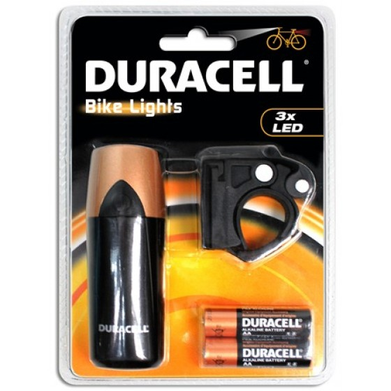 Duracell Bike Lights F01 mit 3 LED inkl. Batterien