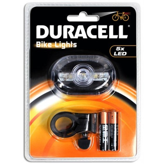 Duracell Bike Lights F03 mit 5 LED inkl. Batterien