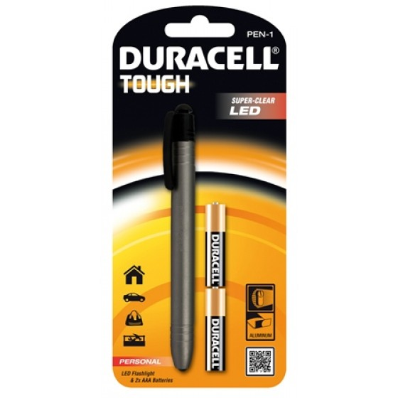 Duracell Flashlights Tough PEN-1 Personal-Series Penlight mit 1 LED in 1er-Blister