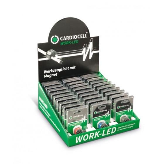 CARDIOCELL Work-LED Werkzeuglicht mit Magnet 30er-Display