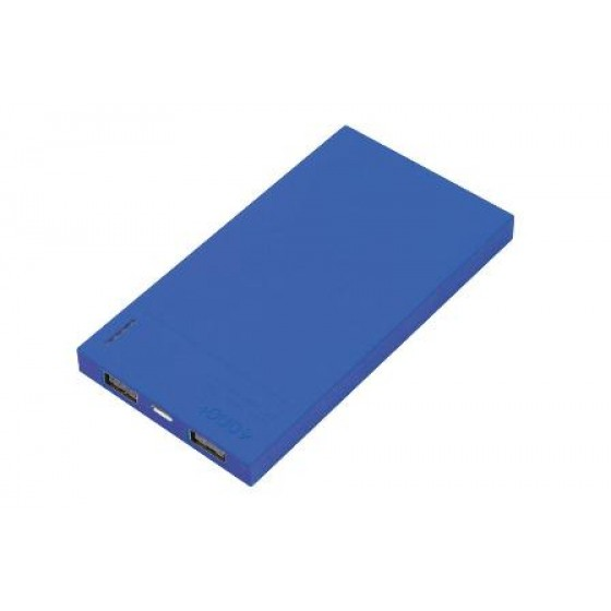 Solutions2Go Powerbank Flat 4000mAh blau