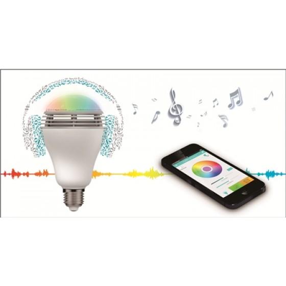 MiPow Playbulb Color Smart-Home LED-Glühbirne mit integriertem Lautsprecher