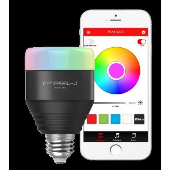 MiPow Playbulb Smart LED-Glühbirne mit Farbwechsel, App-Steuerung und Gruppenfunktion, schwarz