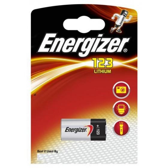 1 x Energizer CR123 CR17345 CR123A Lithium Photo Batterie 3V im Blister