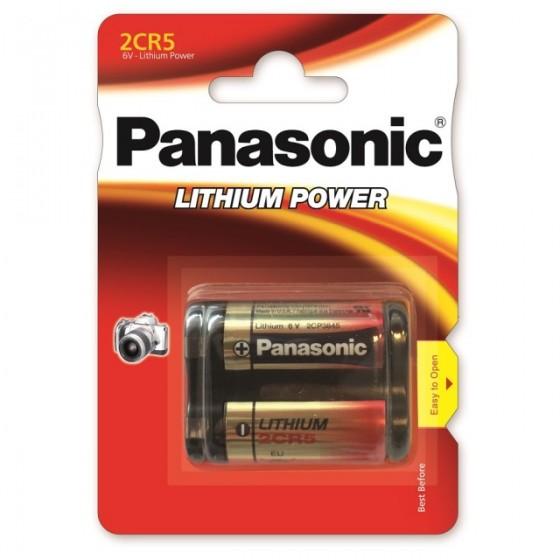 Panasonic 2CR5 6V Lithium in 1er-Blister