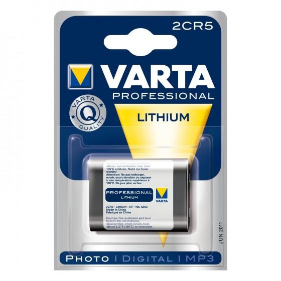 Varta 2CR5 6203 301 401 6V Lithium in 1er-Blister