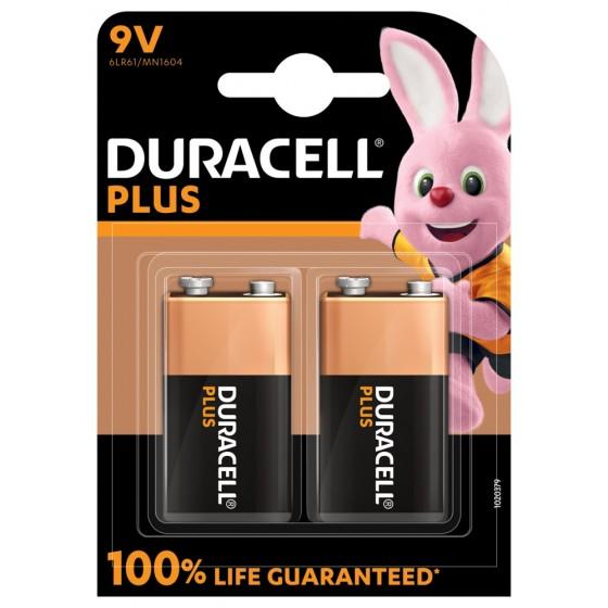 Duracell 9V E-Block MN1604 Plus in 2er-Blister *100% LIFE GUARANTEED*