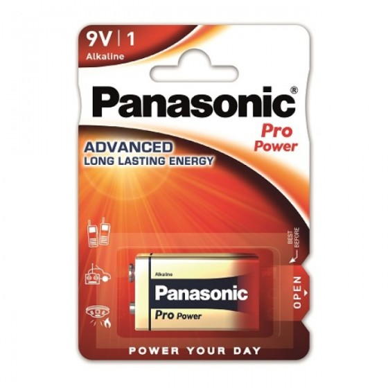 1x Panasonic Pro Power Alkaline 9V Block E-Block 6LR22 Batterie - Spielzeug