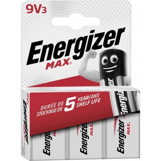 Energizer Max 9V-Block in 3er-Blister