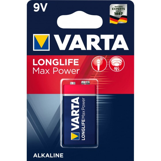 Varta 9V-Block 4722 101 401 LONGLIFE Max Power in 1er-Blister - DE -