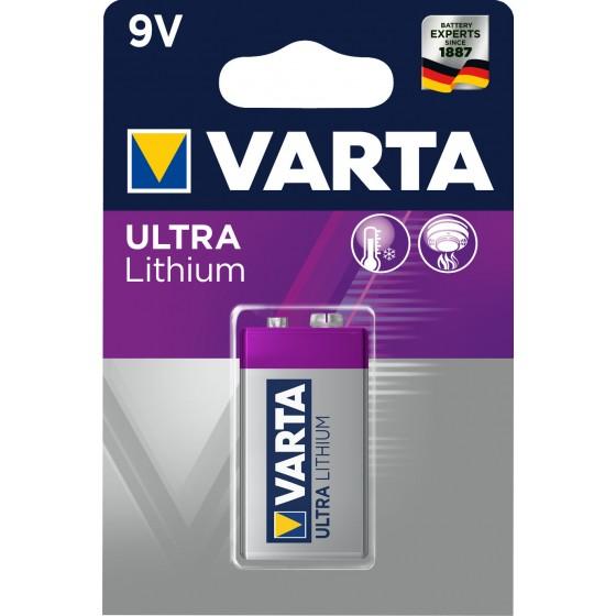 Varta 6122 301 401 ULTRA Lithium 9V E-Block in 1er-Blister