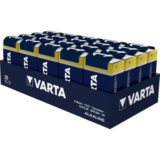 Varta 9V-Block 4122 101 111 LONGLIFE in 20er-Folie