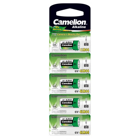 "Camelion 4LR44 6V in 5er-Blister ""No Mercury"""